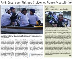 Visuel : Pari réussi pour Philippe CROIZON