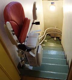 Monte-escalier tournant Curve - MERCUROL 26600
