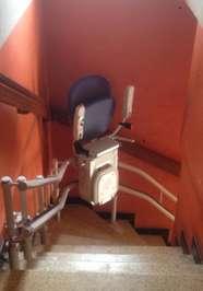 Chaise monte-escalier CURVE extérieur - LAMASTRE
