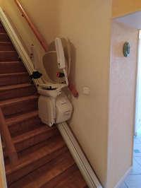 Monte escalier droit en intérieur - MORAS-EN-VALLOIRE 26210