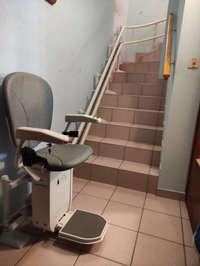 Accessibilité Ardèche : Monte escalier tournant  - SAINT-VICTOR 07410