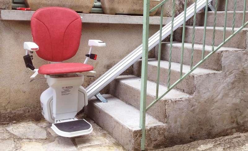 Visuel : Chaise monte-escalier droit Horizon Plus en extérieur - GROSPIERRES 07120