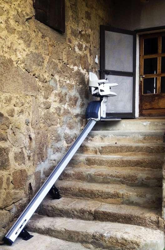 Visuel : Chaise monte-escalier HomeGlide extérieur - PRIVAS 07000