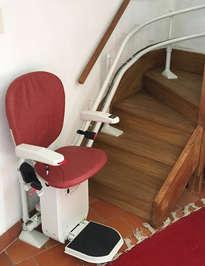 Fauteuil monte-escaliers CURVE tournant - REAUVILLE 26230